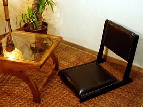 【LNT-015BR】水牛レザー座椅子