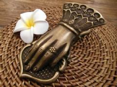 【48094】真鍮製アンティーク調ハンドクリップ
