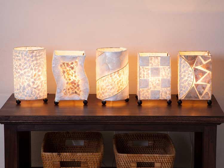 【shell-tablelamp】シェルテーブルミニランプ