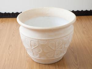 テラコッタ製鉢カバーフランジパニ / Lサイズ【50781】