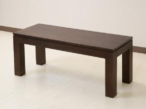 チーク材の木目が美しいベンチ【AS-257】