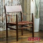 《WINTER SALE》Vonne Chair with Ring ヴォニー・レザーチェア [asri アスリ−]【TBCH-63】