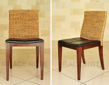 マホガニー材の持つ高級感が品の良い椅子