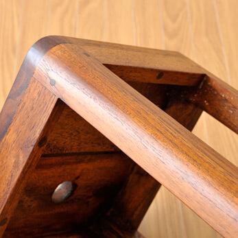 【as-238-h60lb】木製チェア/チークミニスクエアスツール