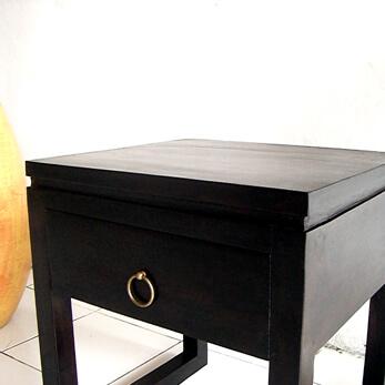 チーク材のミニマムなサイドテーブル AS-008 詳細画像