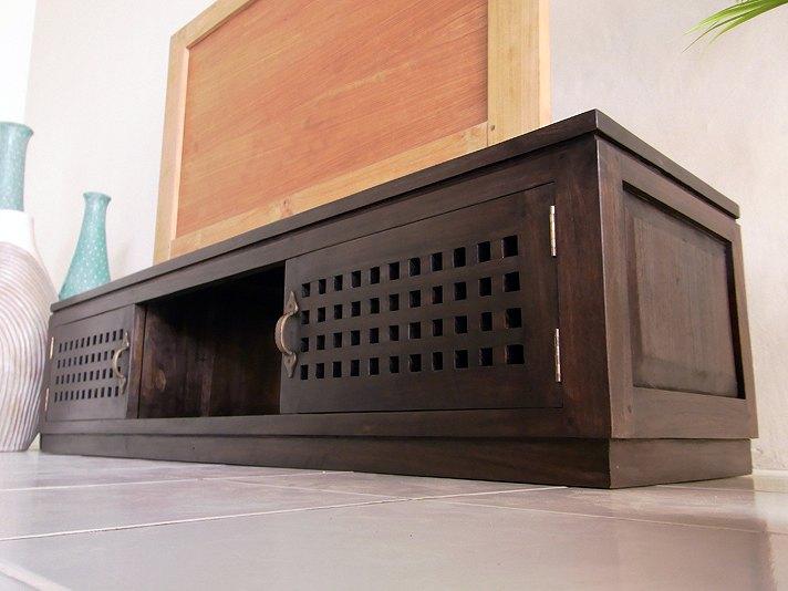 格子扉のTVボード AS104