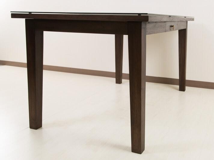 【AS-258_W135】シンセティックラタンとチークのコンビネーションが美しいダイニングテーブル
