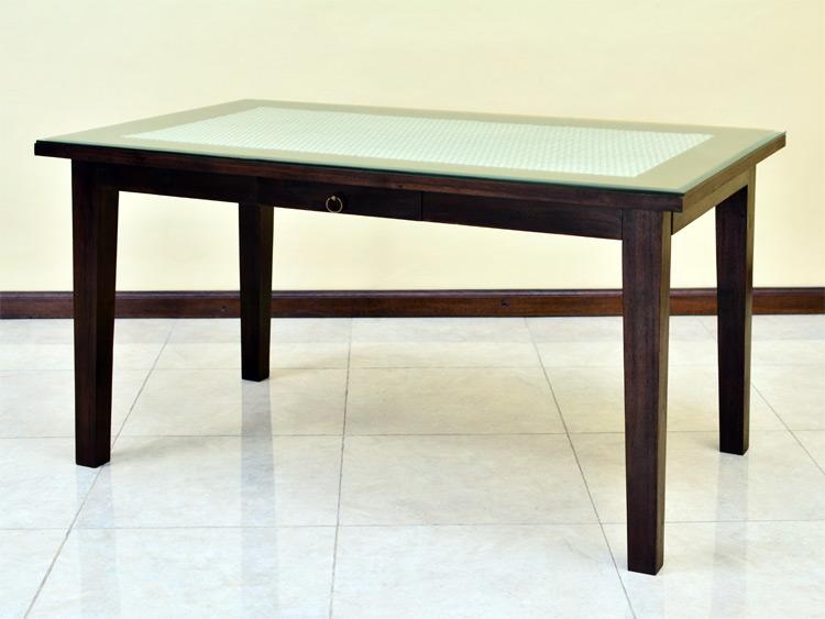 シンセティックラタン ダイニングテーブル【AS-258_W150SWH】