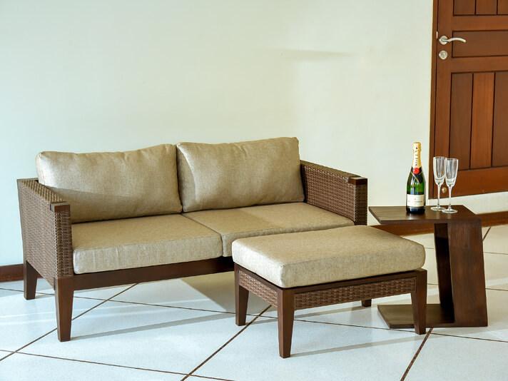 チーク&ラタンリゾートソファ/2.5人掛け Aram sari(アラムサリファニチャー)【AS-279】