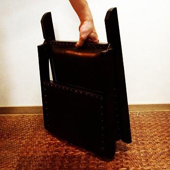 チーク×バッファローレザーのオリジナル座椅子 lnt015br 詳細画像