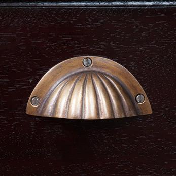 マホガニー無垢材のコンパクトデスク lnt018abr 詳細画像