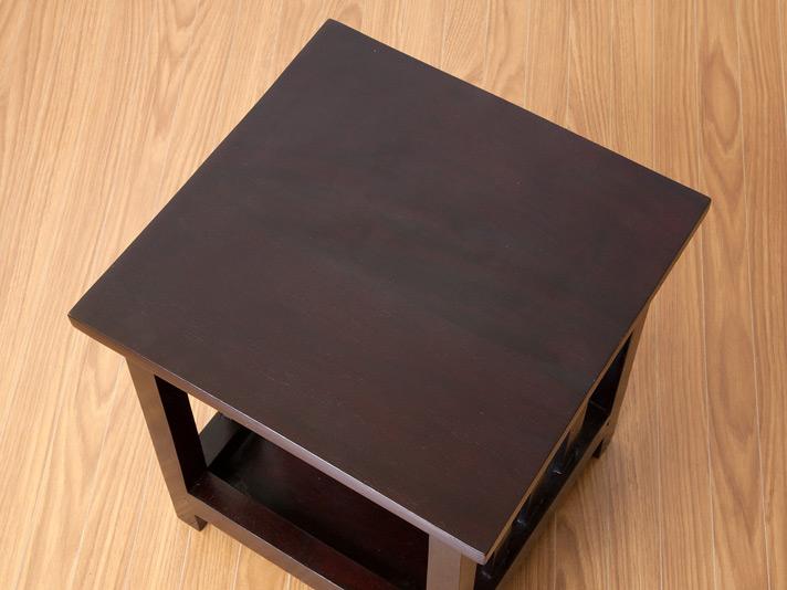 マホガニー無垢材のコンパクトスツール(クッション付き) lnt018bbr