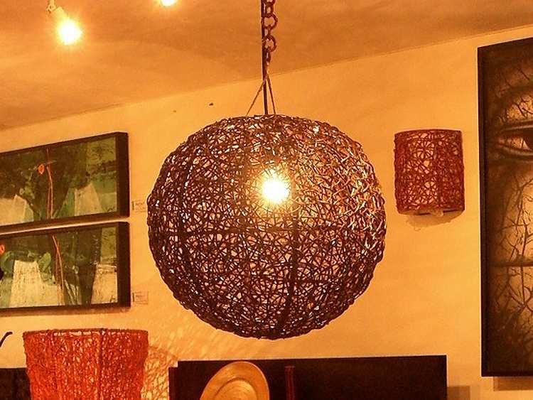 天吊ラタンボールランプ-S【rattan-ball-lamp-hauging-s】