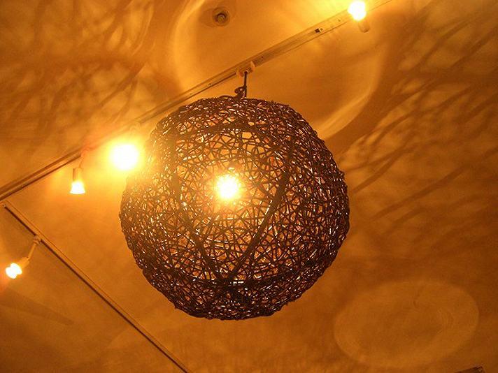 天吊ラタンボールランプ-L【rattan-ball-lamp-hauging-l】