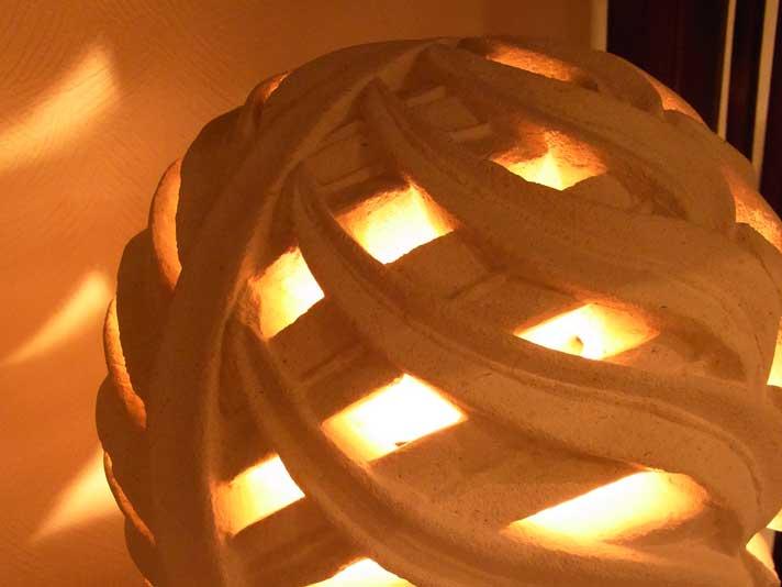 パリマナン・あふれる光が幻想的・・・リーフランプ【46794】