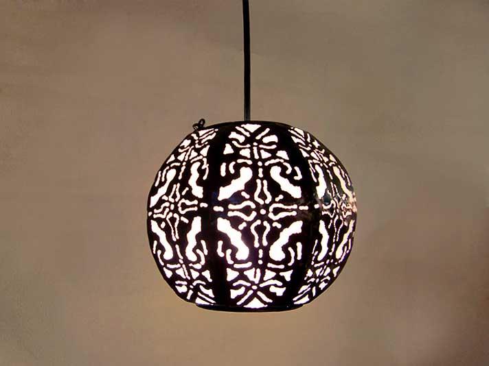 【47104】アジアンカービング天吊ランプ