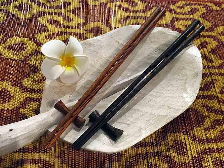 【48481】ココナッツ箸&箸置き 2[メール便対応/いくつでも同梱可]