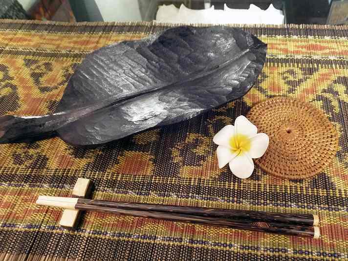 【48484】ココナッツ箸&箸置き 5[メール便対応/いくつでも同梱可]