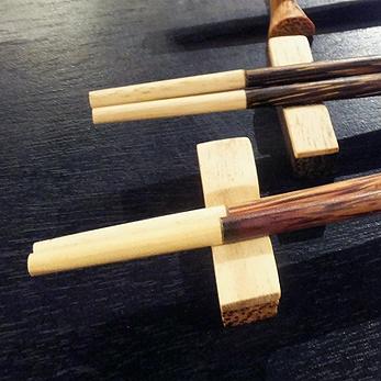 【48485】ココナッツ箸&箸置き 5[メール便対応商品/いくつでも同梱可]