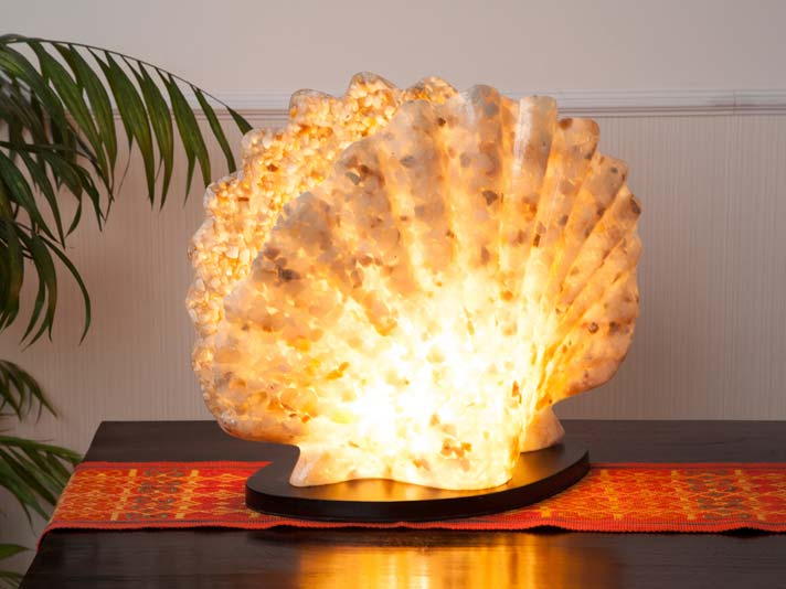 シェル型ファイバーガラス卓上ランプ