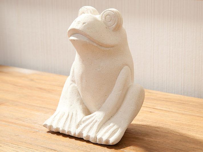 【49618】おすわり卓上カエルオブジェ
