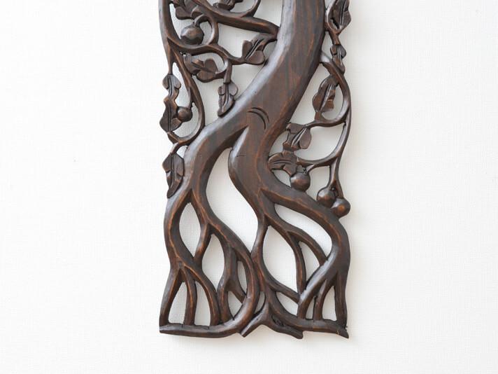 【50389】木製レリーフカービングツリー