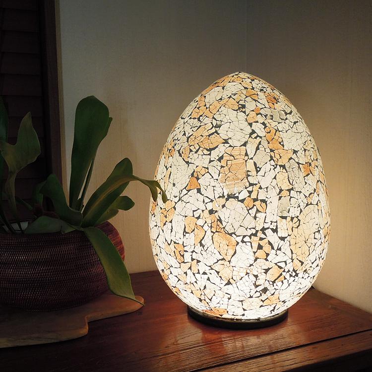エッグ型ガラス卓上ランプ 【53223lm】