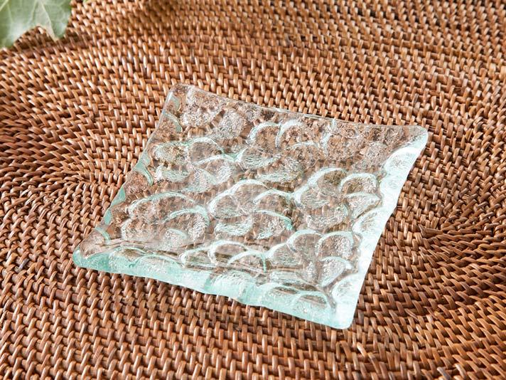 ガラストレイ 正方形【glass-tray10】