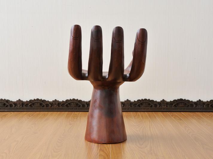 【hand-chair】木製仏手スツール