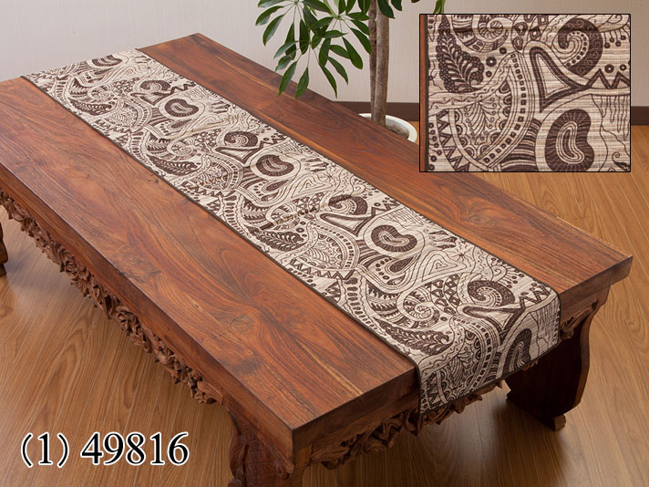 ウォーターヒヤシンス製テーブルランナー/49816
