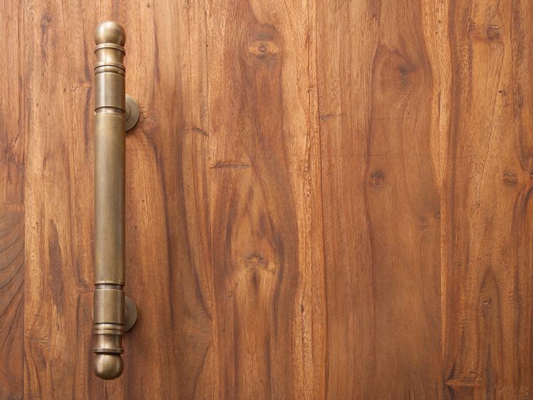 真鍮製ドアハンドル(C004PJ)【52548】
