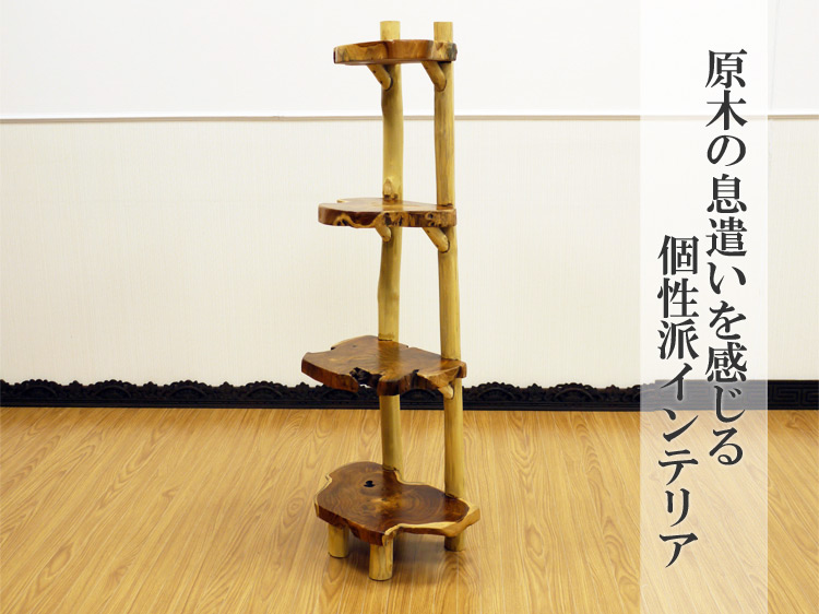 【50380】チークナチュラルシェルフS
