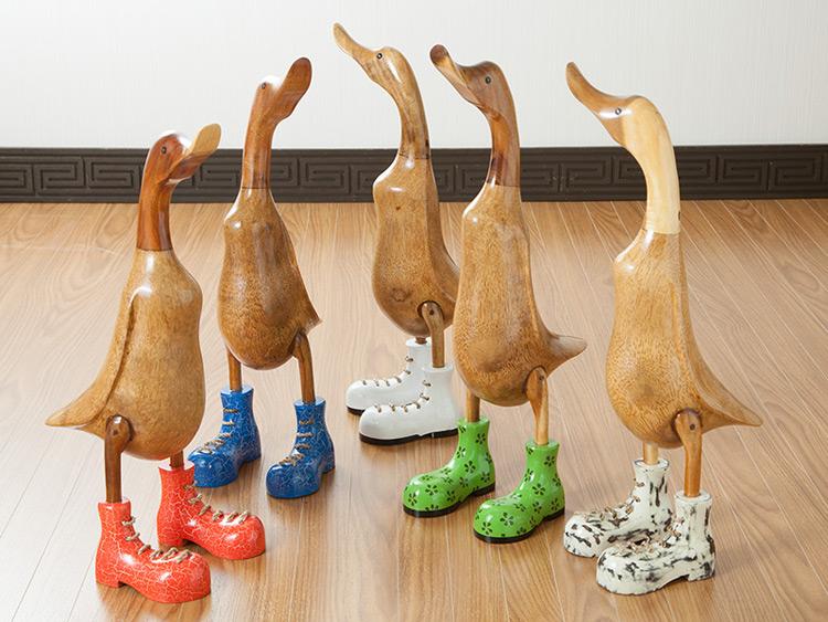 木製オブジェ アヒル ベベパパ【duck-l】