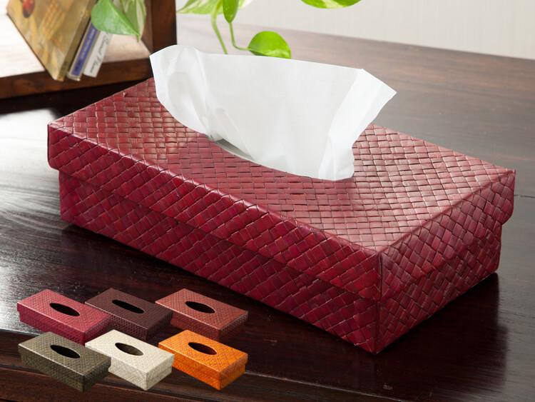 パンダンリーフティッシュケース全7色【pd-tissuecase】【49400】オレンジ