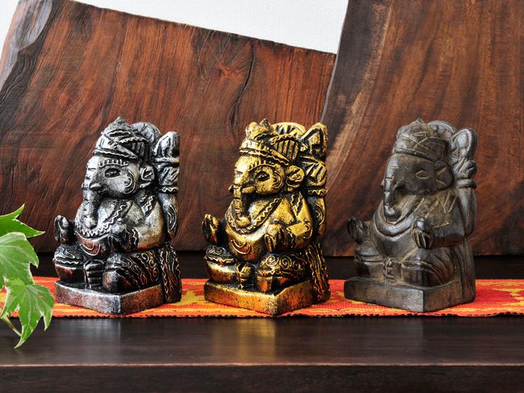 【w-ganesha-s】木製ガネーシャ卓上Sサイズ
