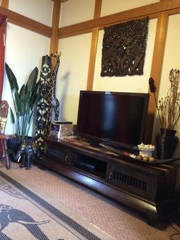 アジアンアイテム満載で非日常的な雰囲気のご自宅