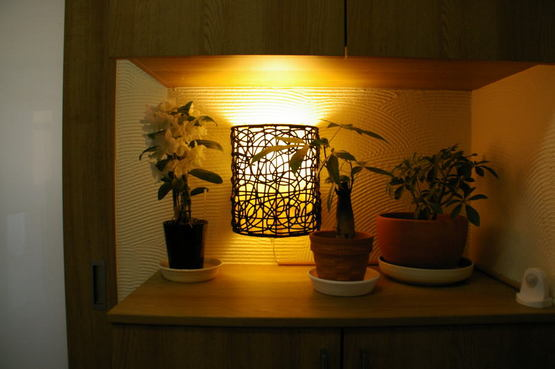 ちょっとしたスペースにかけられる簡単取付ラタン壁掛けランプ Rattan-wall-lamp【45277】