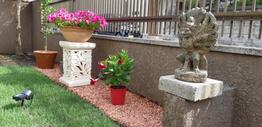 お庭を大改造!石像でバリの風