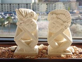 パリマナン お祈りしている姿が愛らしいバリスカカップル / S サイズ【45531】