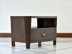 八角形の木製サイドテーブル【AS-126】
