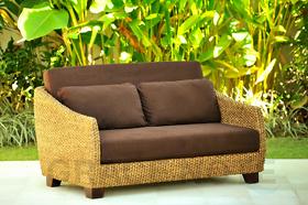 ウォーターヒヤシンスの美しい曲線が上品な2人掛けソファー【WS21-2P】