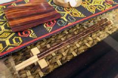 【48484】ココナッツ箸&箸置き [メール便対応商品]ダークブラウン