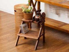 【48752】木製の踏み台/チーク製ベイビーステップ